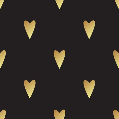 Modello oro senza cuciture con cuori