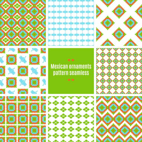 Tracería folklórica mexicana textil patrón sin costuras