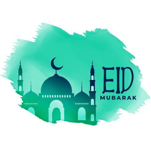 festival eid musulman belle conception de voeux