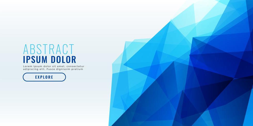 diseño de banner geométrico abstracto azul