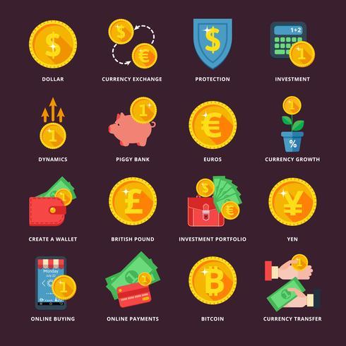 Cambio de moneda en el sistema bancario.