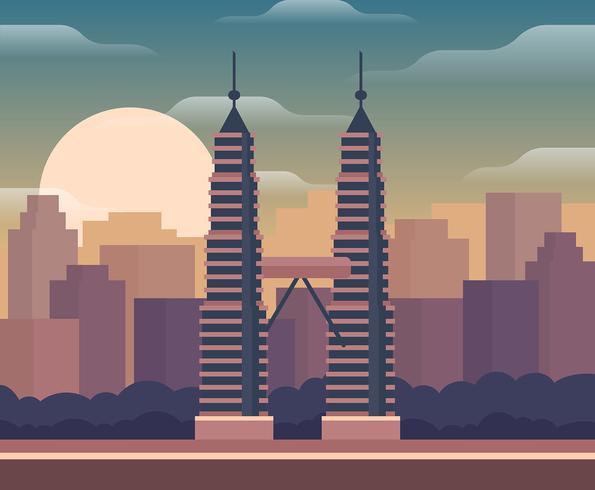 Ilustración de Kuala Lumpur