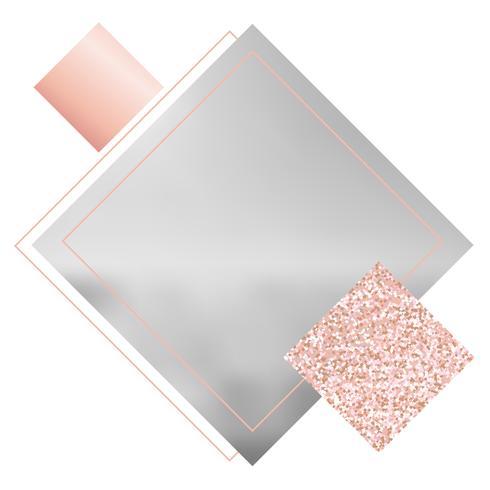 Banner de redes sociales para tu blog o negocio. Lindo pastel rosa dorado rosa con un diseño moderno. Plantilla vector