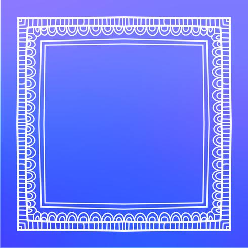 vintage frame mono line vector