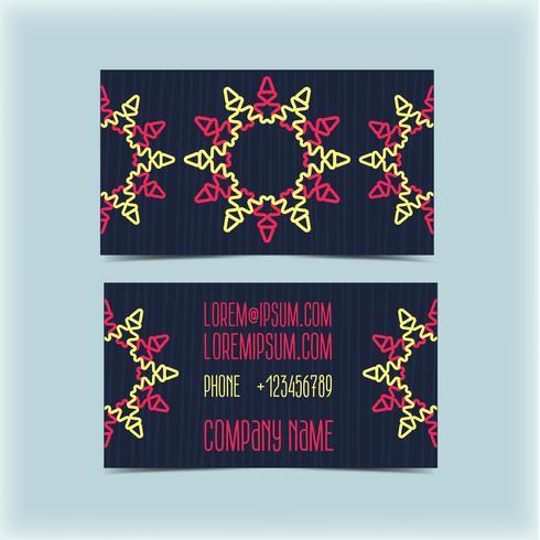 Cartão de visita com ornamento floral, monograma