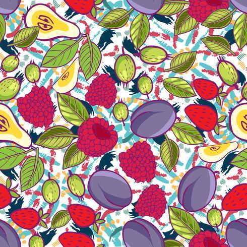Tribal and Sweet berries seamless