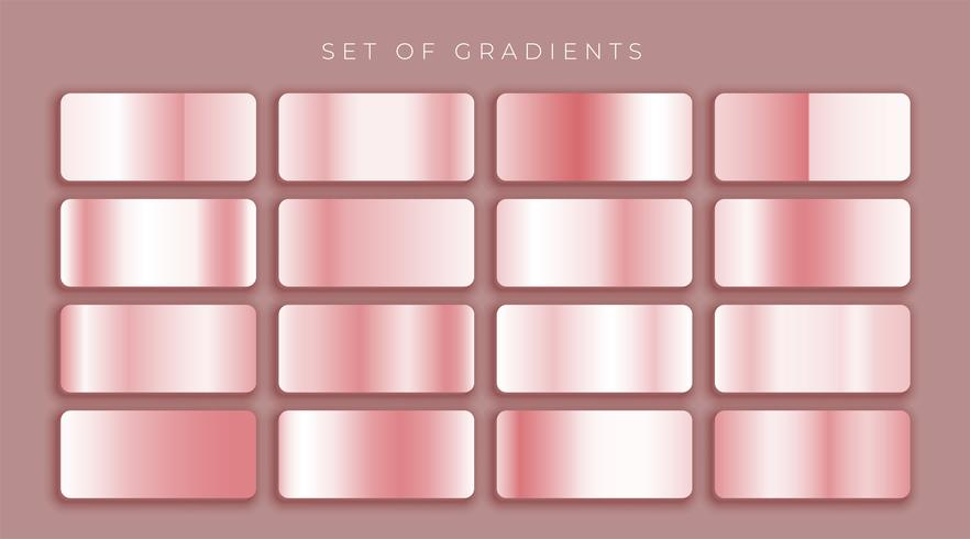 rose gold or pink metallic gradients set