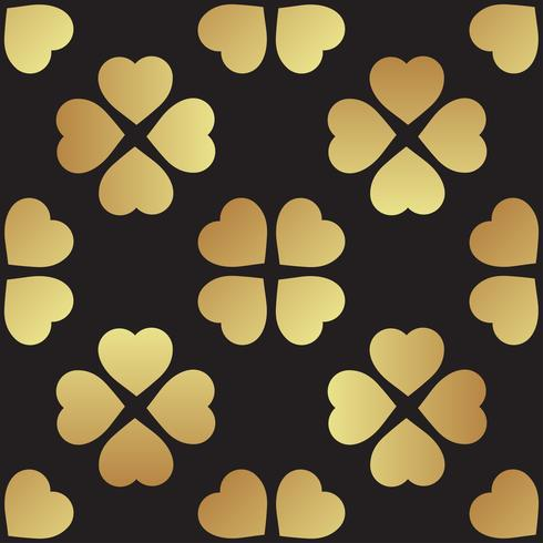 Reticolo senza giunte dell'oro con foglie di trifoglio, il simbolo di St. Patrick Day in Irlanda