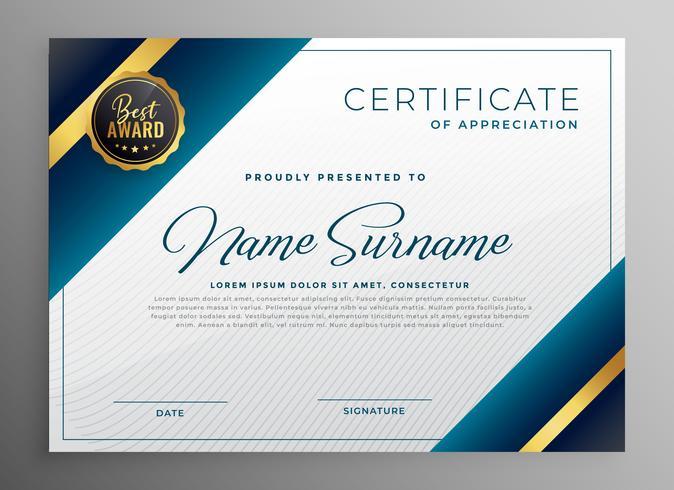 utmärkelse diplom certifikat mall design