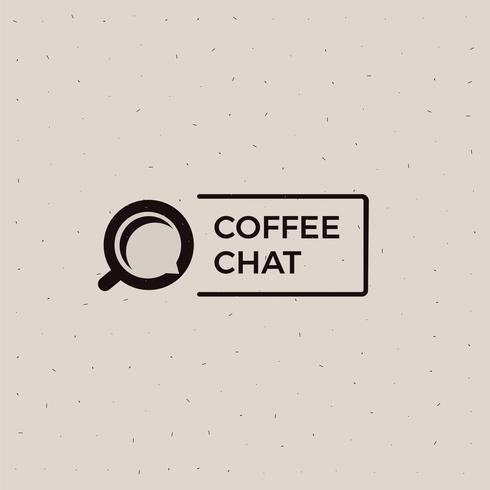 Logo de la vieille école de café chat. Coupe avec une illustration de boisson énergétique noire. Bannière plate de vecteur