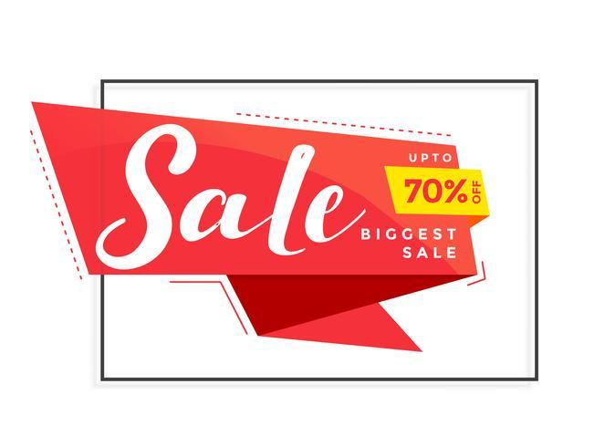 bannière de vente moderne pour le marketing et la promotion