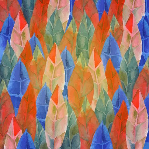 Achtergrond van veren, bladeren Tribal, boho