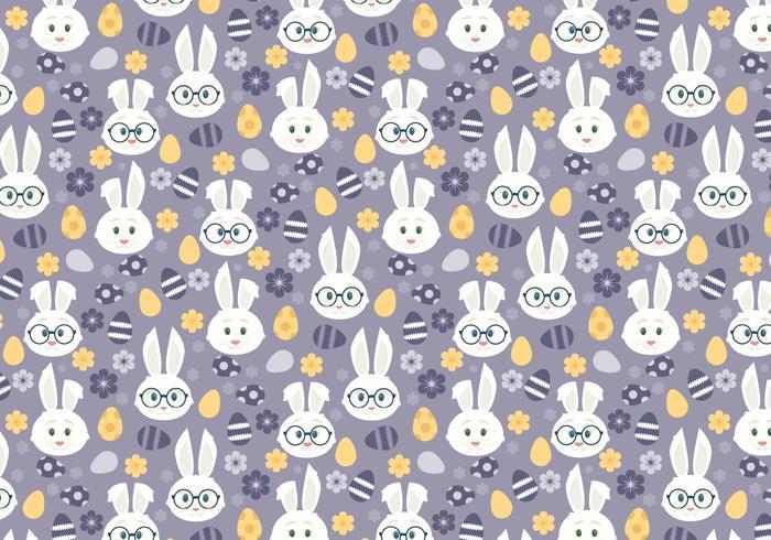 Vektornahtloses Muster mit netten Osterhasen