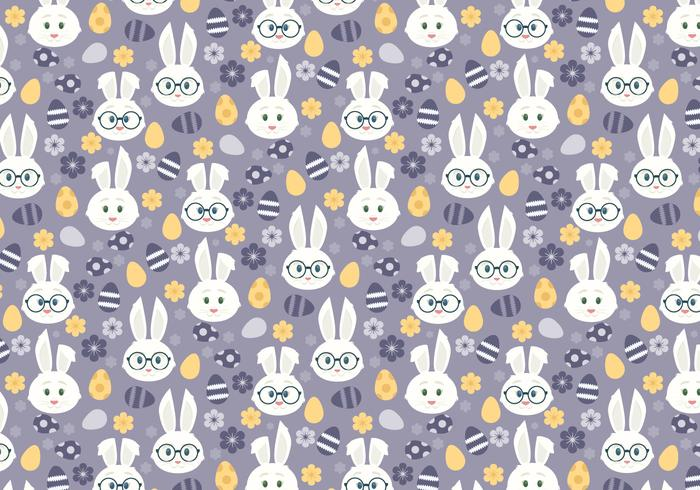 Vector Seamless Pattern with Cute Easter Bunnies - Download Free Vector Art, Stock Graphics & Images