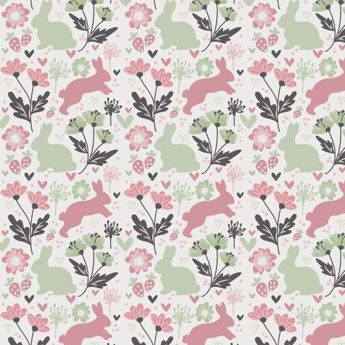 Vector Seamless Easter Pattern Desgin - Download Free Vector Art, Stock Graphics & Images