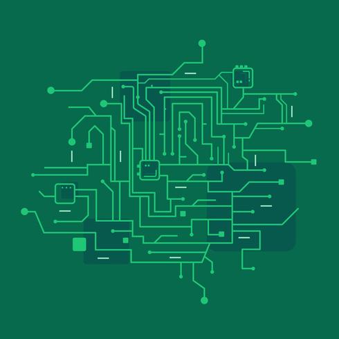Vector de placa de circuito impreso