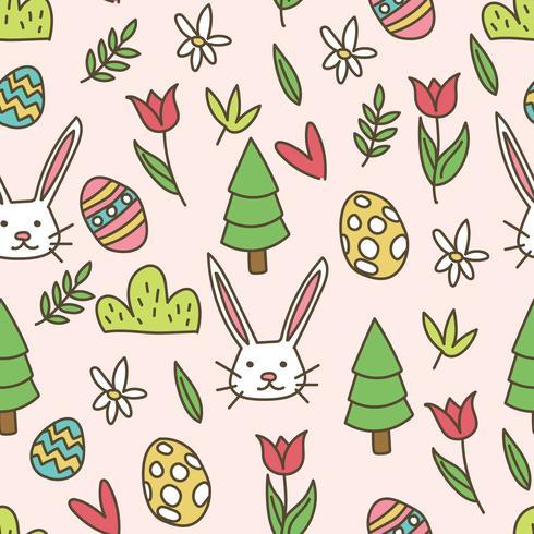 Papier peint Doodled Easter