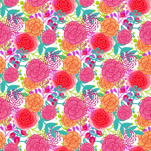 Nahtloses Muster der hellen rosa Rosen