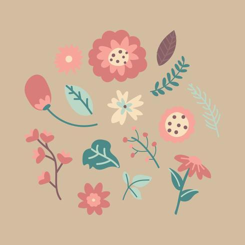 Söta Clipart Blommor
