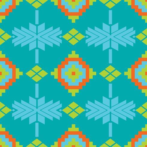 Mexikanisches folkloristisches Traceryetextilnahtloses Muster vektor