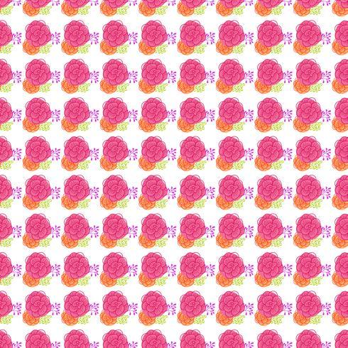 Vintage blommigt sömlöst mönster vektor