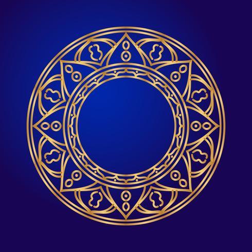 Mandala. Elementi decorativi etnici in un cerchio. vettore