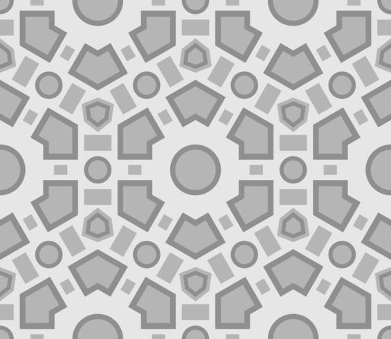 Struttura senza cuciture con ornamento geometrico.