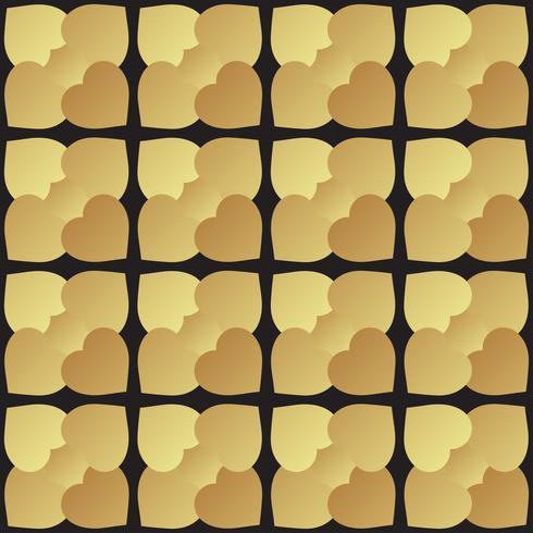 Mosaïque universelle transparente motif noir et or.