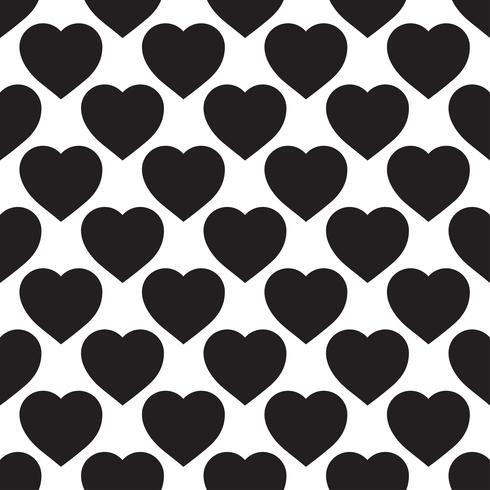 Monocromático padrão sem emenda com corações