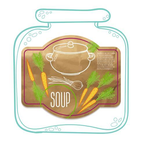 Label soup kraft paper.
