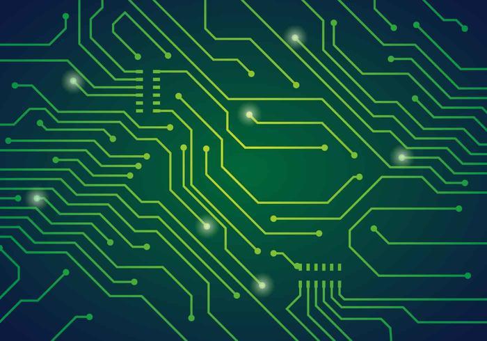 Illustration vectorielle de circuit imprimé