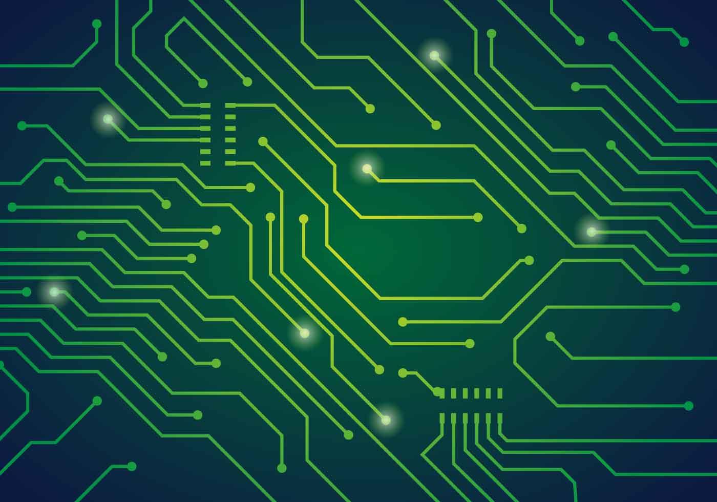 Printed Circuit Board Vector Illustration Download Free