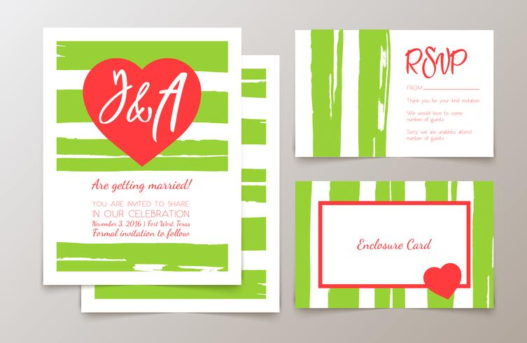Cute fashionable cards and invitations.  vector