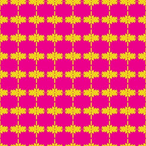 Tracería folklórica mexicana textil patrón sin costuras vector