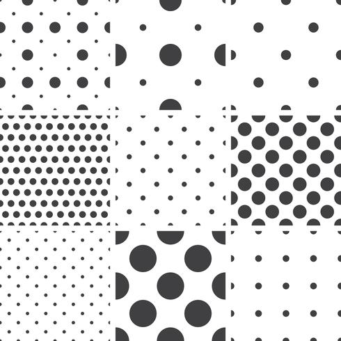 Set of monochrome geometric seamless universal patterns, tiling.   vector