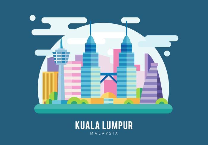 Kuala lumpur illustration vektor