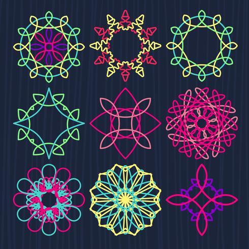Ornements géométriques ronds