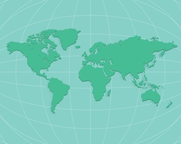 Wereldkaart op de wereld