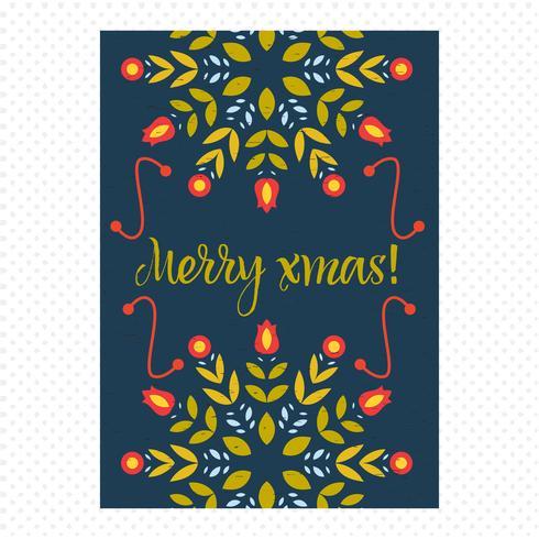 Cartão de Natal vintage vetor