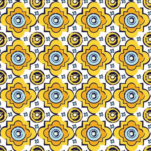 Sfondo stile bizantino senza soluzione di continuità vettore
