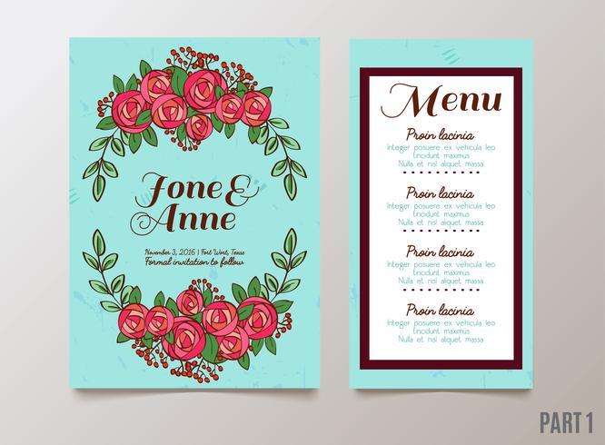 Hochzeiten, speichern Sie die Datumseinladung, RSVP und Dankeskarten.