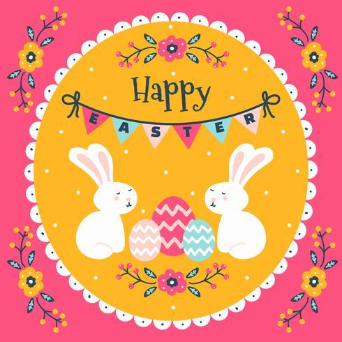 Colorful Easter Wallpaper Illustration