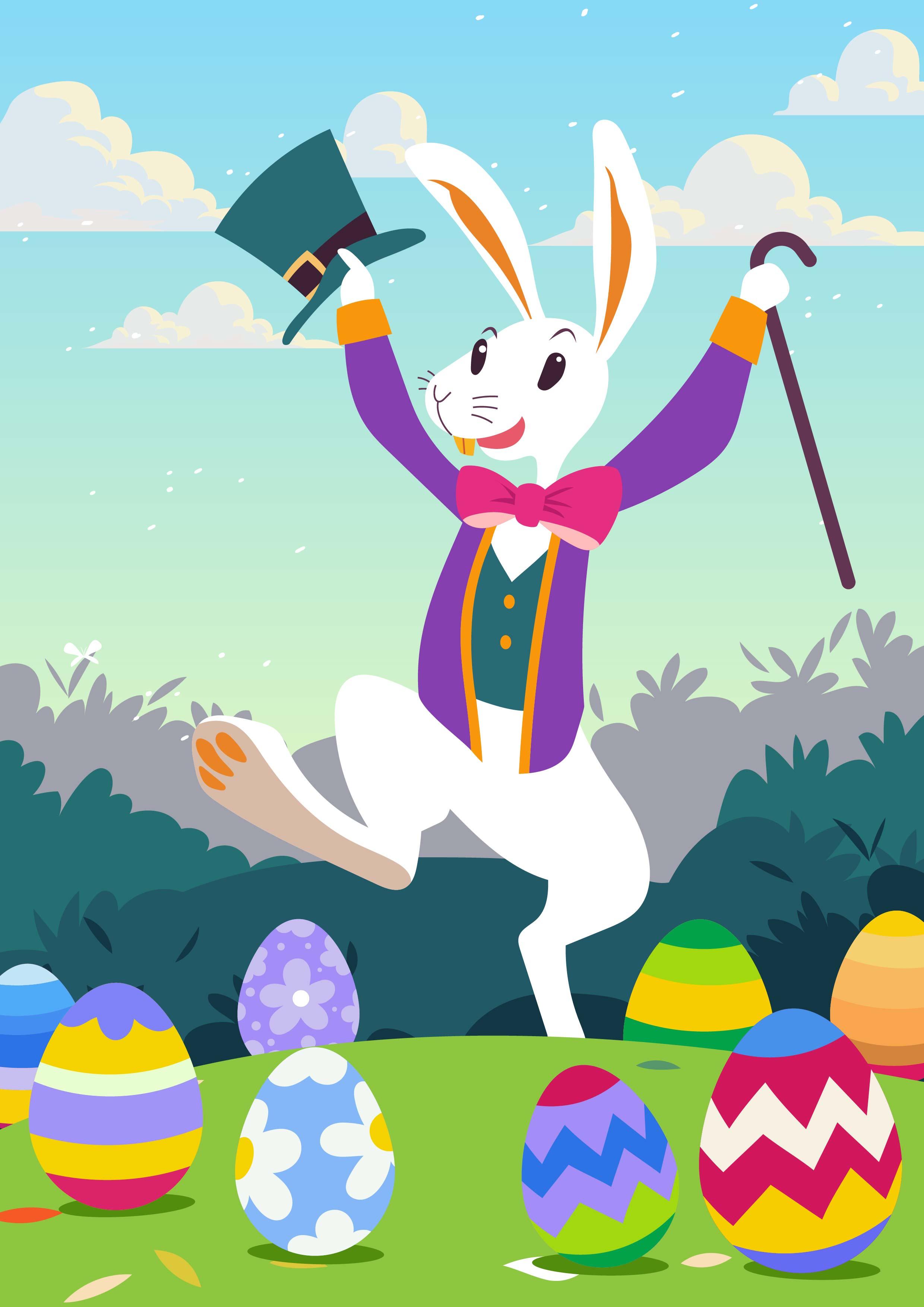 Cute Easter Bunny Wallpaper Download Free Vectors Clipart