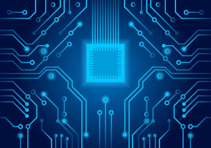 blue printed circuit board vector download free vector art, stock