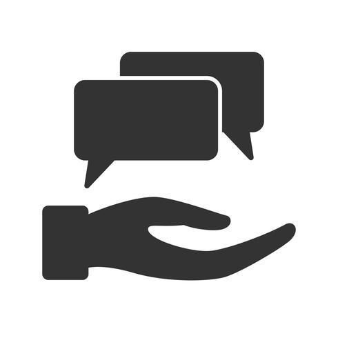 Ícones de glifo de feedback