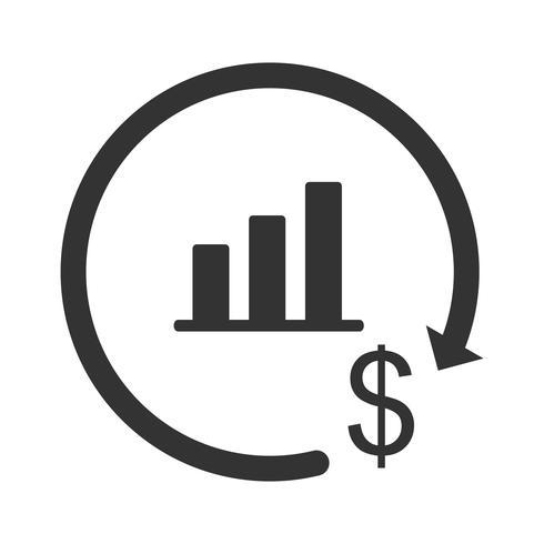 Iconos de inversión glifo