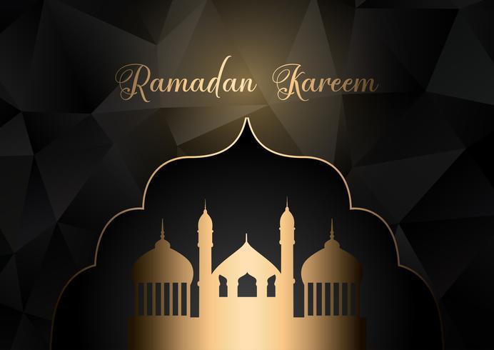 Laag poly Ramadan Kareem achtergrond
