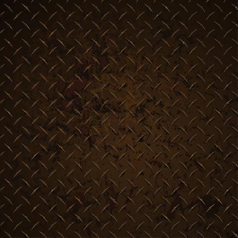 Placa de diamante enferrujado angustiado corroído realista gráfico vetorial ilustração