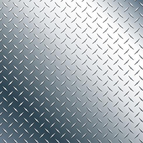 Ilustração de gráfico de vetor realista de placa de diamante cromo