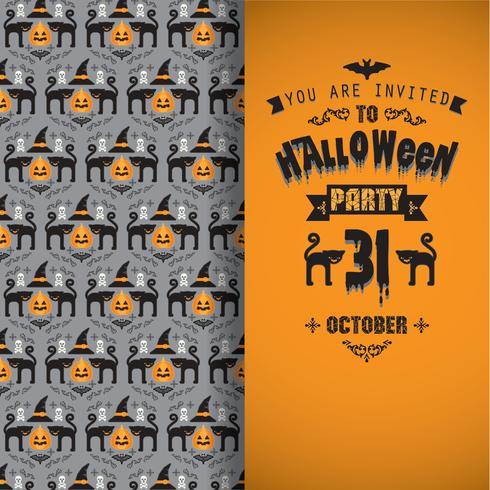 Invitación a la fiesta de halloween.